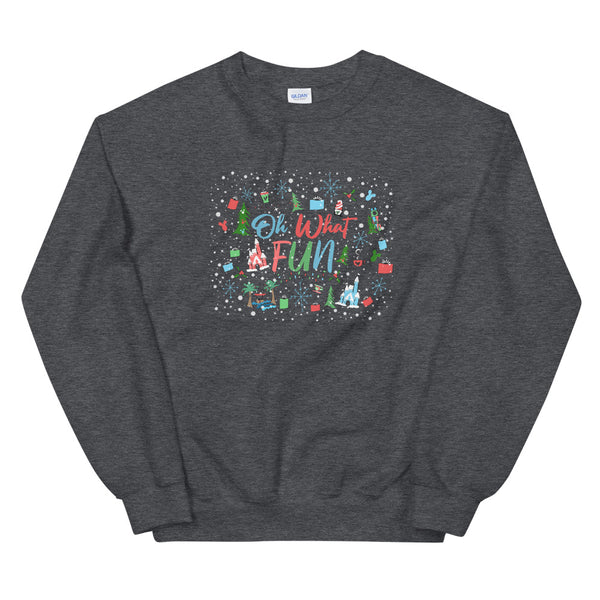 Disney Christmas Sweatshirt Oh What Fun at Disney for the Holidays Disney Unisex Sweatshirt