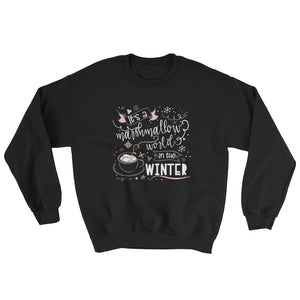 Marshmallow World Hidden Mickey Hot Cocoa Winter Sweatshirt