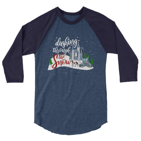 Cinderella Christmas Raglan Shirt Dashing Through the Snow Disney Shirt