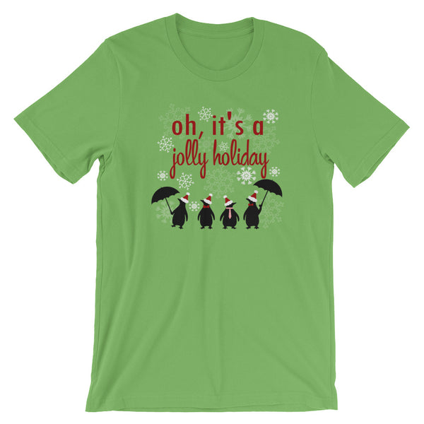 Jolly Holiday Snowfall, Disney Christmas, Mary Poppins Unisex T-Shirt