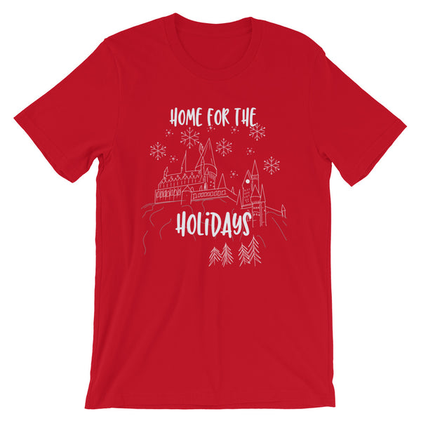 Hogwarts Christmas T-shirt Home for the Holidays Wizarding World of Harry Potter T-Shirt