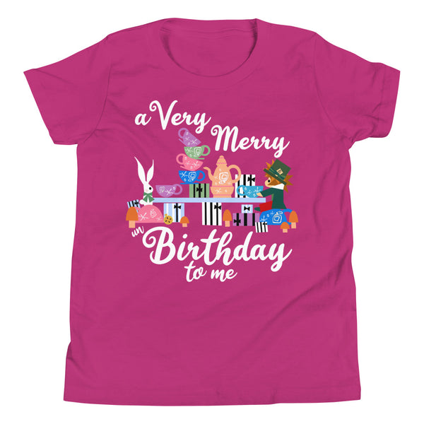 Disney Birthday Kids T-Shirt Alice in Wonderland A Very Merry un Birthday To Me Kids T-Shirt