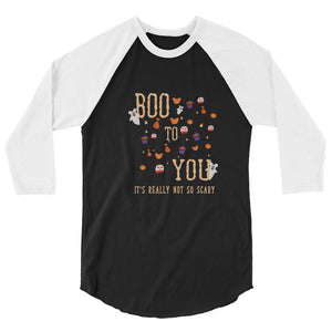 Disney inspired Halloween Raglan, Disney Boo To You Raglan Tshirt, Mickeys Not So Scary Halloween Party tee, MNSSHP tee, disney holiday tee