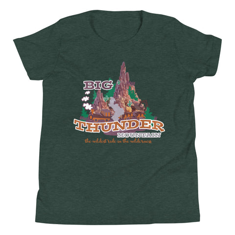 Big Thunder Mountain Kids Disney T-Shirt Frontierland Walt Disney World