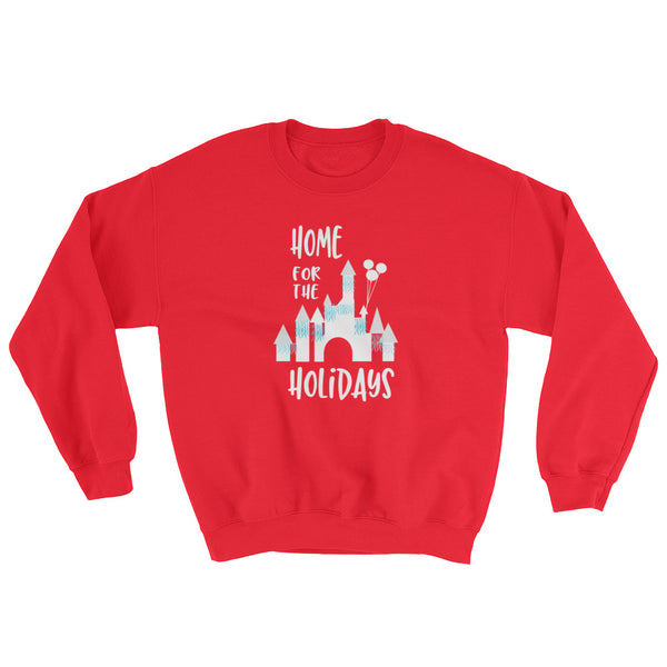 Home for the Holidays Disneyland Sleeping Beauty Castle Christmas Crew neck Sweatshirt