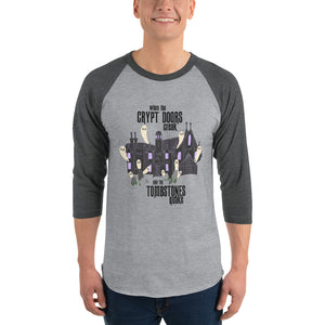 Disney Haunted Mansion Grim Grinning Ghosts Halloween 3/4 sleeve raglan shirt
