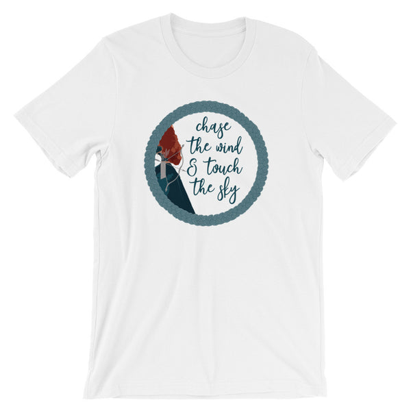 Brave Merida T-shirt, Disney princess,Chase the Wind and Touch the Sky