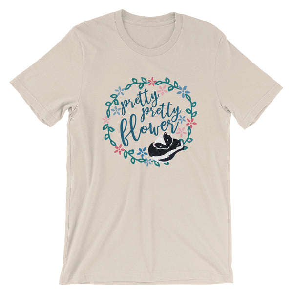Bambi Pretty Flower Skunk Unisex T-Shirt