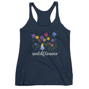 Alice in Wonderland  Wildflower Women's Racerback Tank
