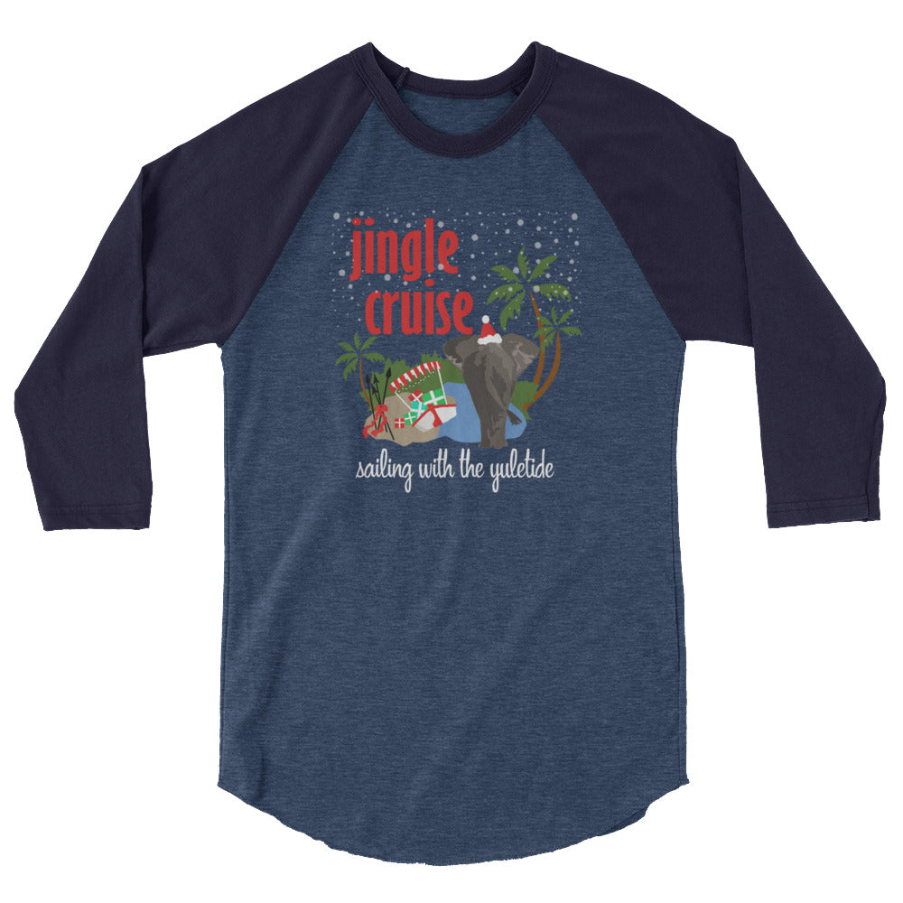 Jingle Cruise Elephant, Raglan, Disney Christmas Shirt