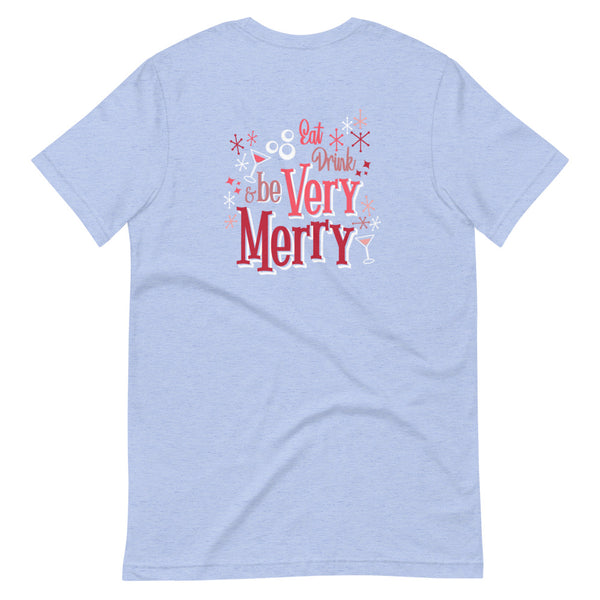 Mickey's Very Merry T-shirt Disney Christmas Party Short-Sleeve Unisex T-Shirt