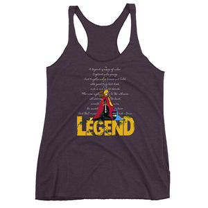 Sword in the Stone, Tank Top, Legend King Arthur with Archimedes and Merlin Ladies Racerback Tank