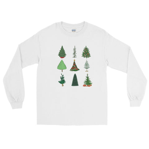 Mickey Christmas Tree Men's Long Sleeve Shirt