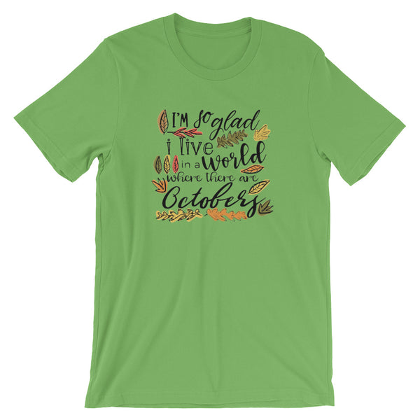 Octobers T-Shirt, Fall Shirt, Anne of Green Gables Shirt
