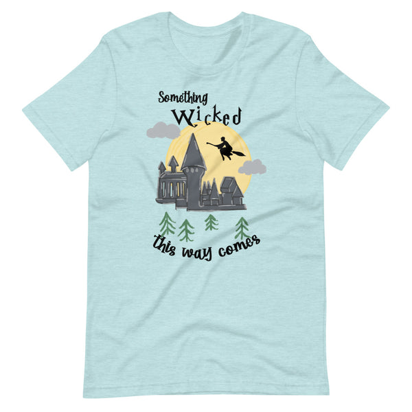 Harry Potter Halloween Something Wicked This way Comes Wizard Short-Sleeve Unisex T-Shirt