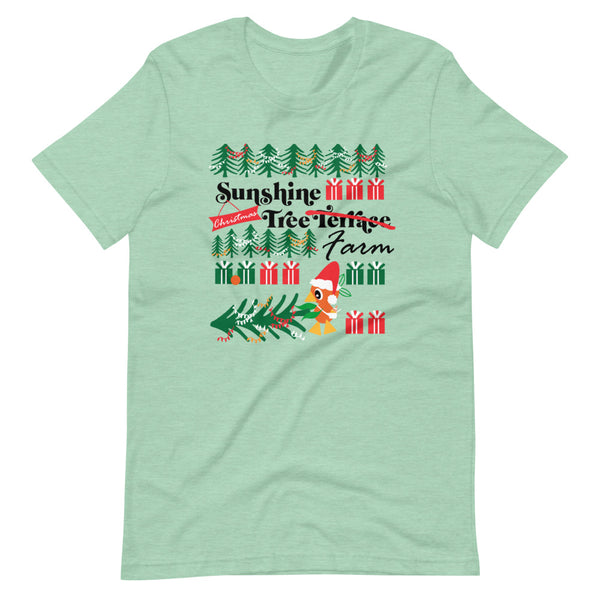 Orange Bird Christmas T-Shirt Sunshine Tree Terrace Short-Sleeve T-Shirt