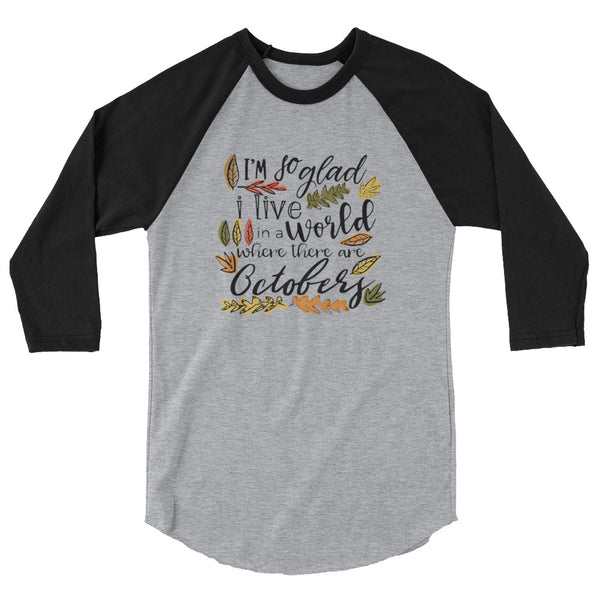 Octobers Raglan, Fall Shirt, Anne of Green Gables Shirt
