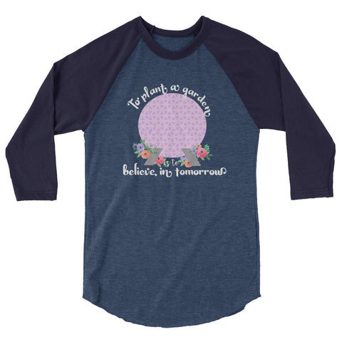 Flower and Garden Spaceship Earth Disney Raglan