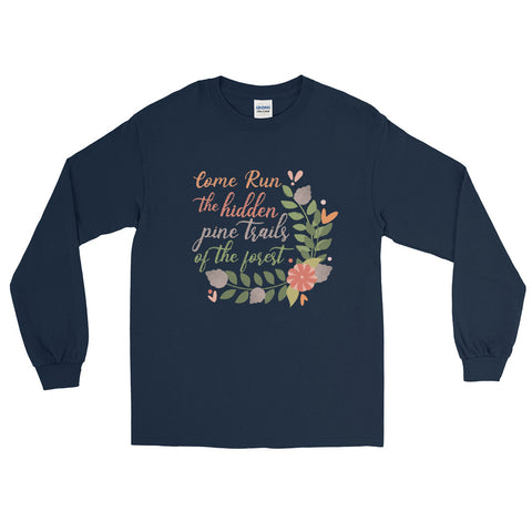 Pocahontas Disney Long Sleeve Come Run the Hidden Pine Trails Run Disney Shirt Long Sleeve Shirt