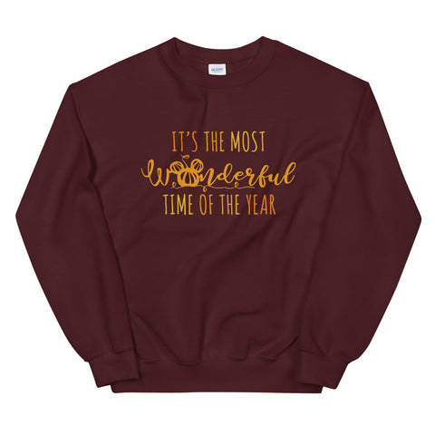 Mickey Pumpkin T-shirt Disney Halloween It's the Most Wonderful Time of the The Year Unisex Sweatshirt