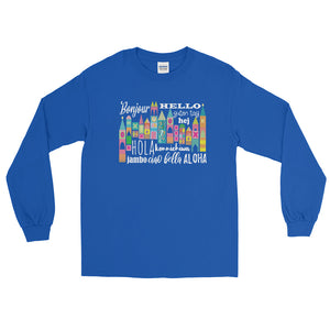Small World Hello Long Sleeve T-Shirt Disney Small World Many Languages Long Sleeve T-Shirt