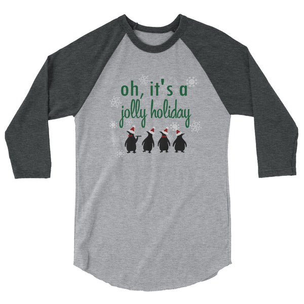 Jolly Holiday Disney Christmas Raglan