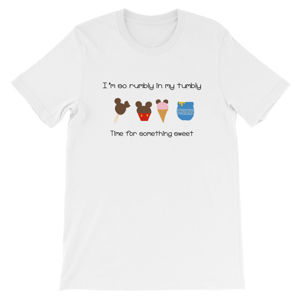Winnie the Pooh Mickey Snacks T-shirt I'm so rumbly in my tumbly time for something sweet