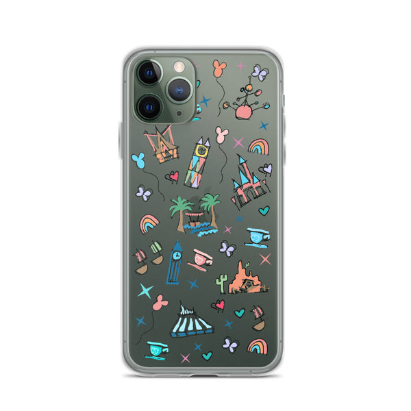 Disneyland iPhone Case California Dreamin'  Disney Inspired Icon iPhone Case