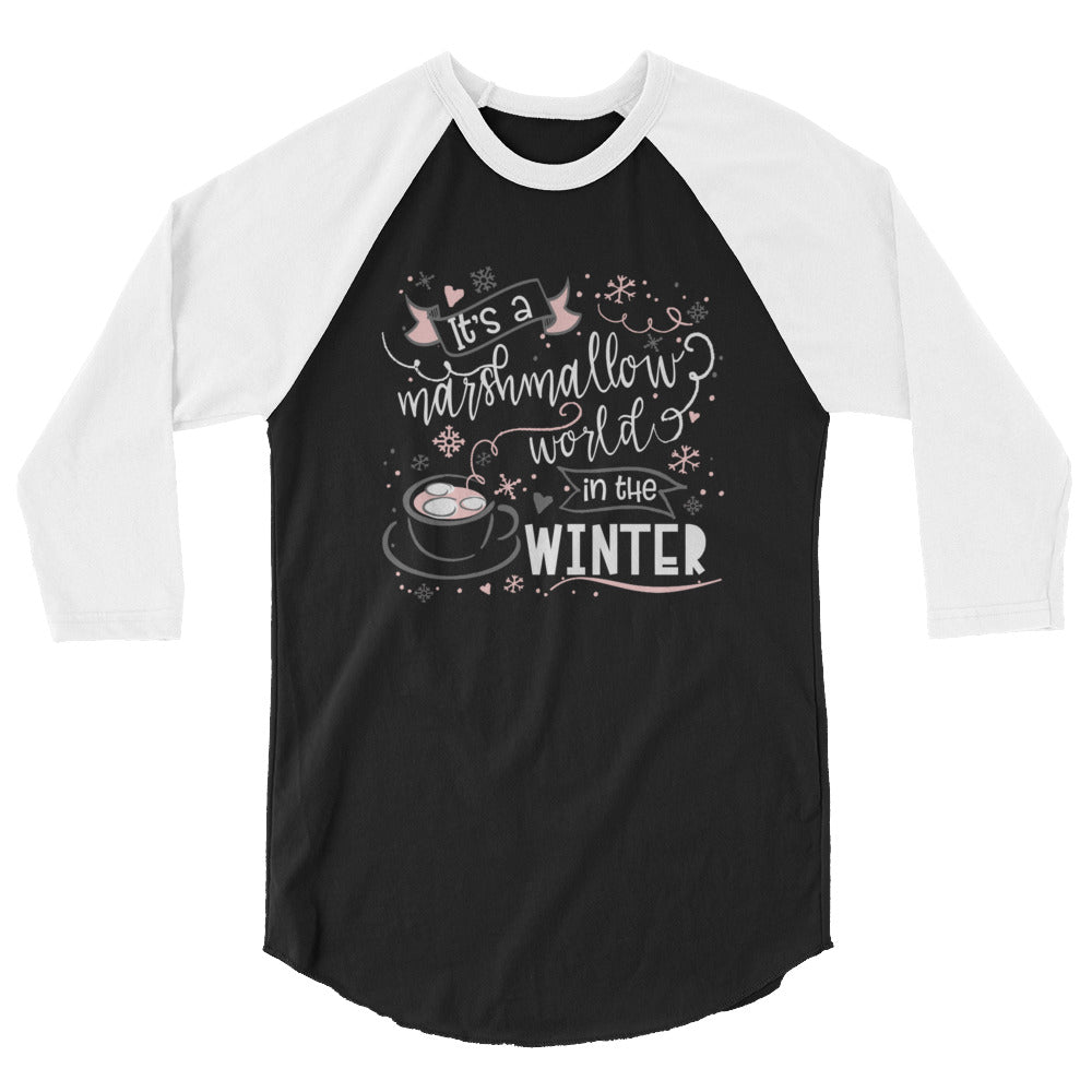 Marshmallow World, Raglan, Mickey Cocoa Shirt