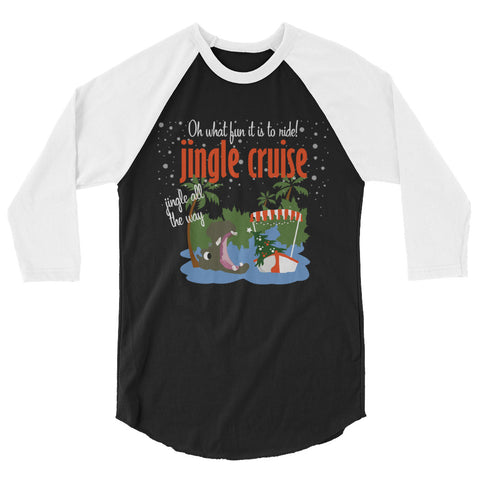Jingle Cruise, Hippo, Raglan, Jungle Cruise, Disney Christmas Raglan