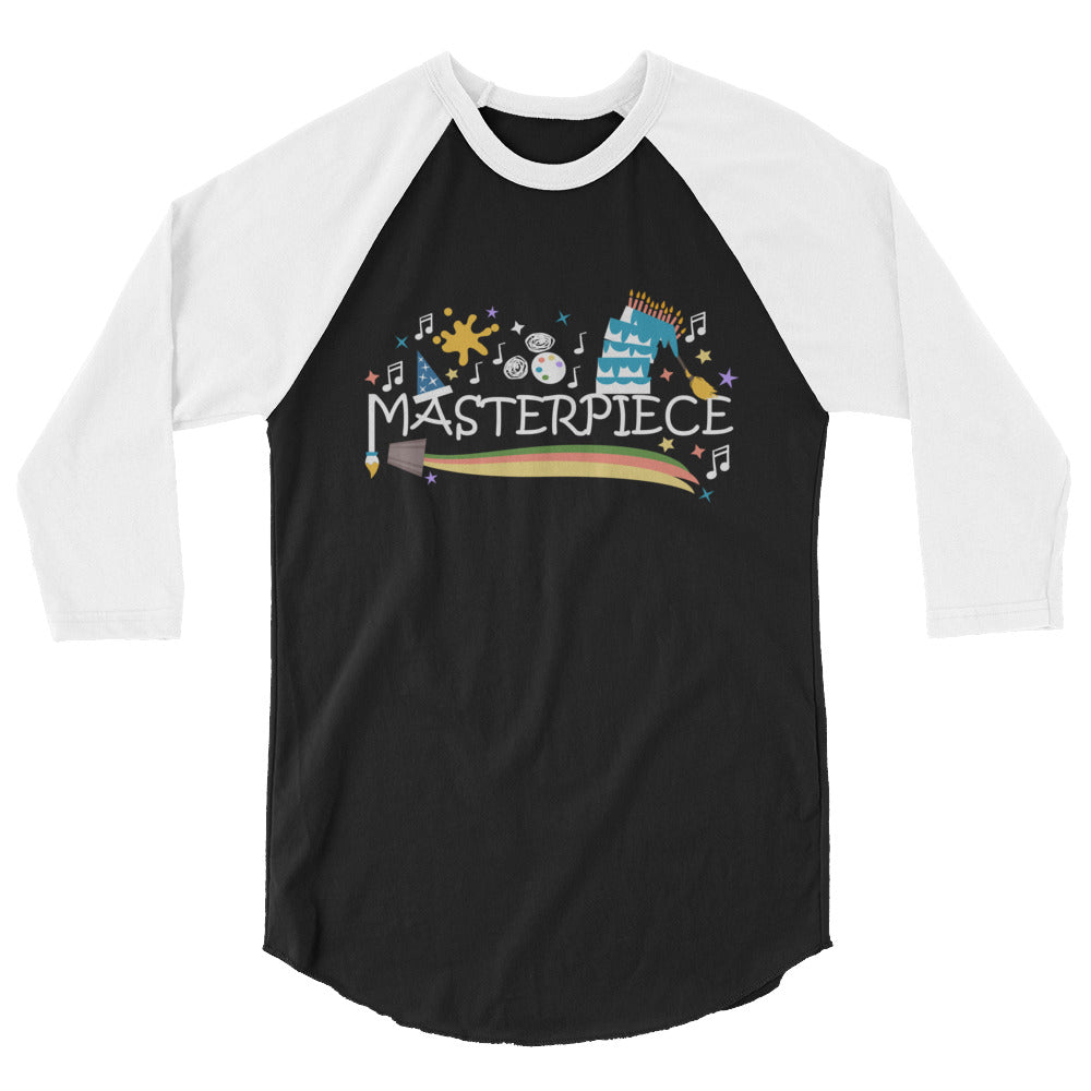 Disney Art Raglan Mickey Masterpiece Festival of the Arts Unisex Raglan Shirt