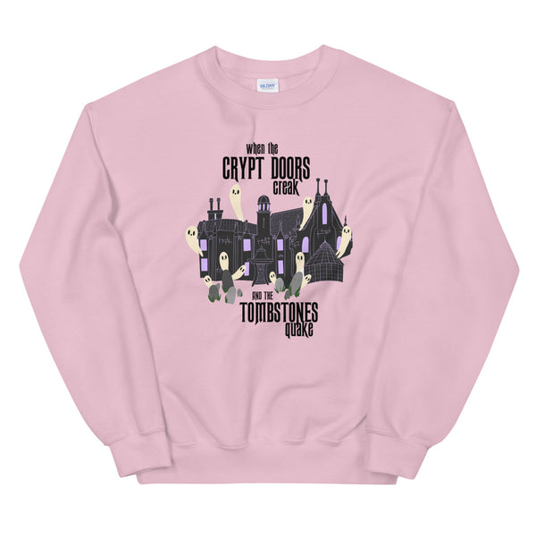 Disney Haunted Mansion Sweatshirt Grim Grinning Ghosts Disney Unisex Crew Sweatshirt
