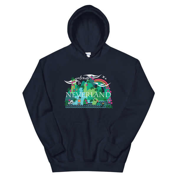 Neverland Hoodie Disney Mermaids Disney Peter Pan Disney Unisex Hooded Sweatshirt