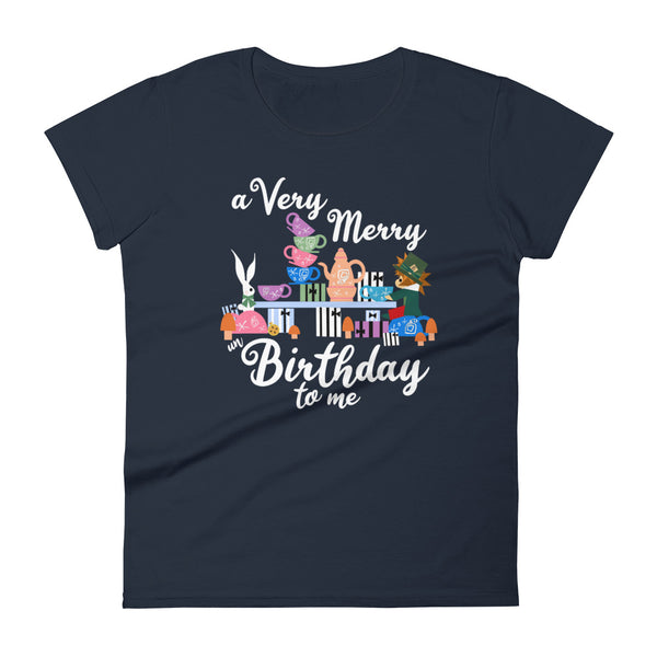 Disney Birthday Women's T-Shirt Alice in Wonderland A Very Merry un Birthday To Me Women's T-shirt