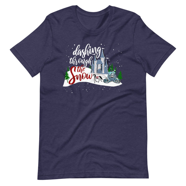 Cinderella Christmas Dashing Through the Snow Disney T-Shirt
