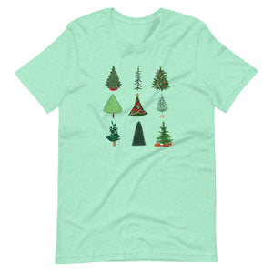 Mickey Christmas Tree Short-Sleeve Unisex T-Shirt