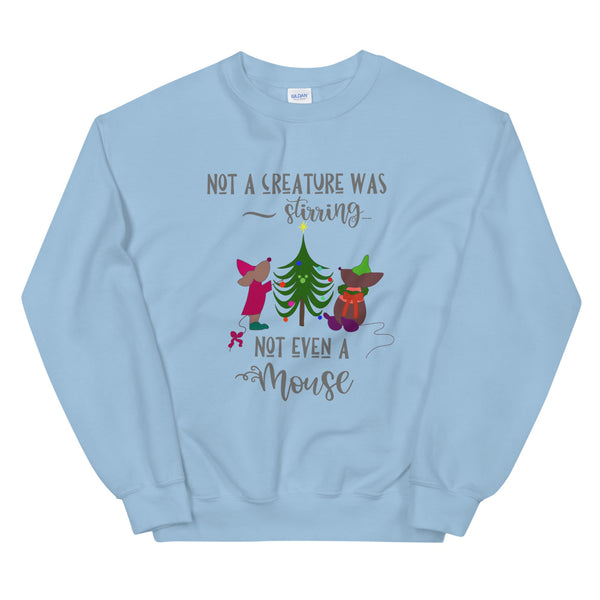 Disney Cinderella Jaq and Gus Holiday Tree Unisex Sweatshirt
