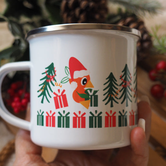 Orange Bird Christmas Mug Sunshine Tree Terrace Disney Camping Mug