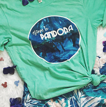 Pandora World of Avatar Escape to Avatar Unisex Tee, Pandora Tshirt