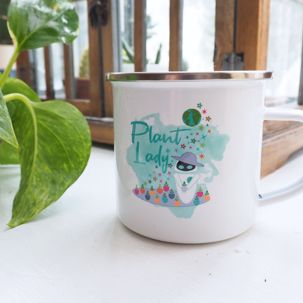 Plant Lady EVE Disney Wall-E Inspired Camping Mug