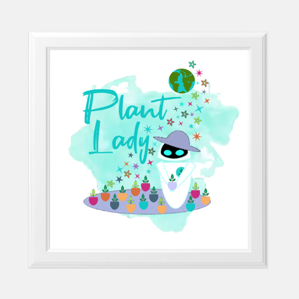 Plant Lady EVE Disney Wall-E Inspired Wall Art Print
