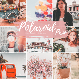 Polaroid Film 90s Lightroom Mobile Presets, 4 Mobile Presets, Travel Blogger Presets, Lifestyle Presets