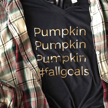 Pumpkin Fall Goals #Fall Goals, Pumpkin Spice Fall flowy tee