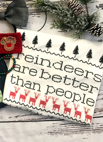 Reindeers are better than people T-Shirt Frozen-Inspired Disney Holiday T-Shirt