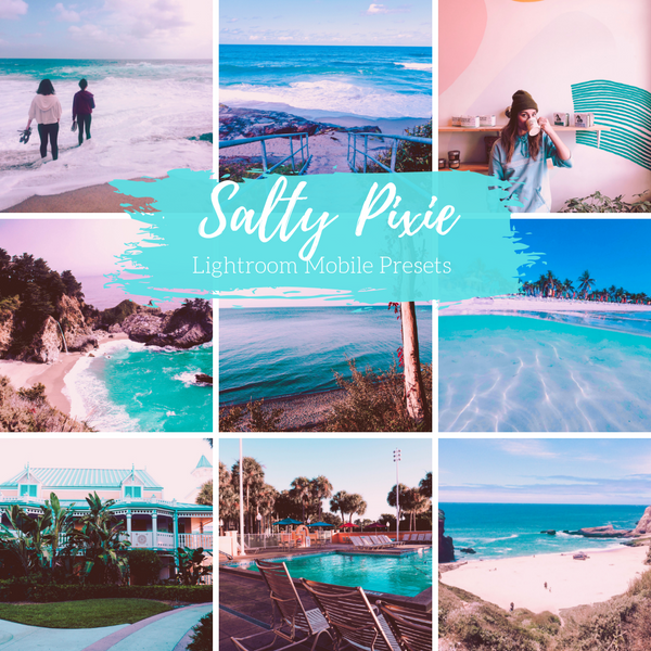 Salty Pixie Preset, Beachy Lightroom Mobile Preset, Turquoise Preset Lightroom CC