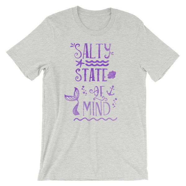 Mermaid Salty State of Mind Ocean Conservation Beach Short-Sleeve Unisex T-Shirt