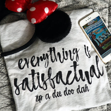 Zip A Dee Doo Dah, Everything is Satisfactual Splash Mountain Disney Shirt