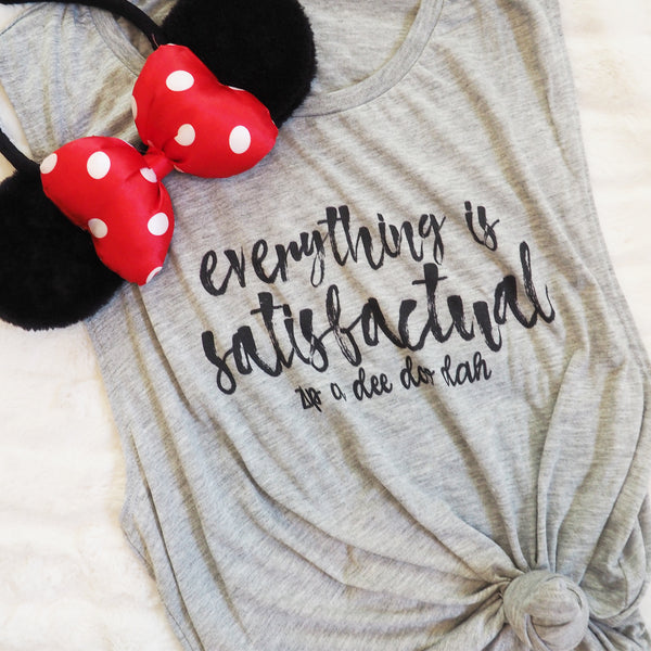 Everything is Satisfactual Splash Mountain Ladies' Muscle Tank