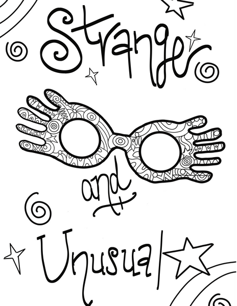 Luna Lovegood Harry Potter Coloring Pages