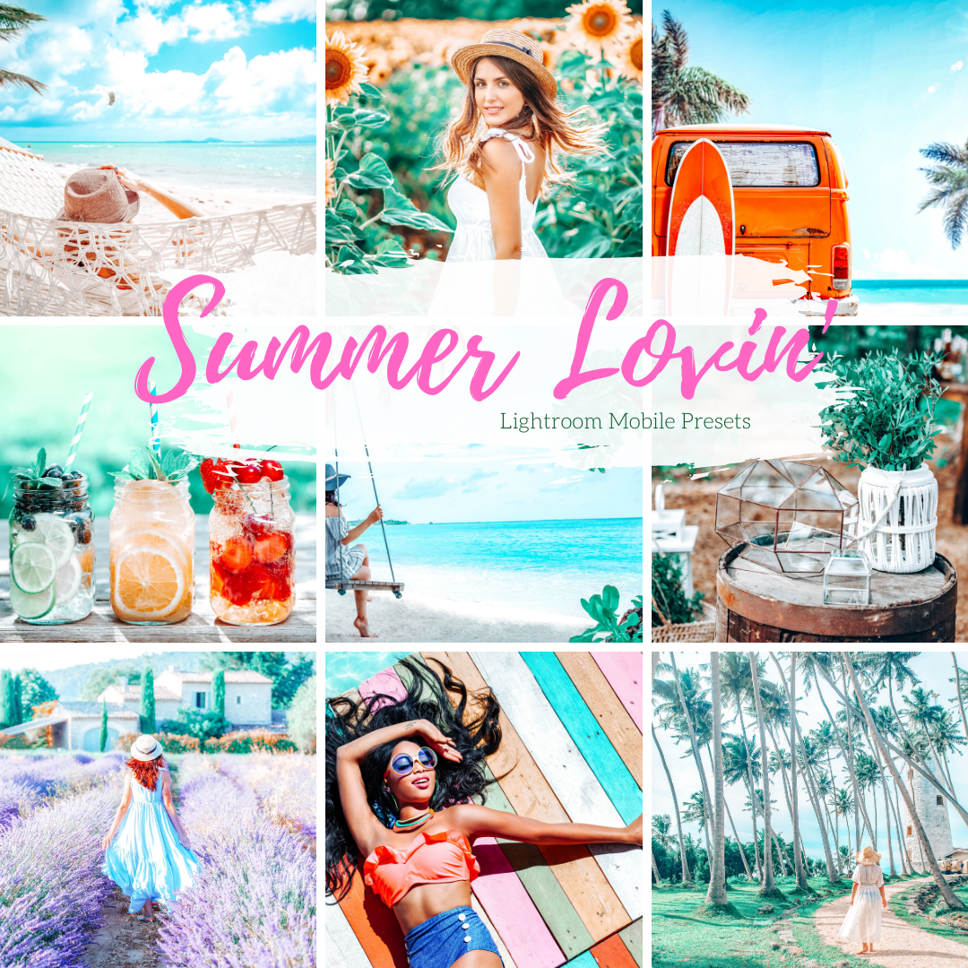 5 Summer Mobile Lightroom Presets, Bright Vibrant Colors Lightroom Mobile Instagram Presets  Lifestyle presets Travel Photography Presets
